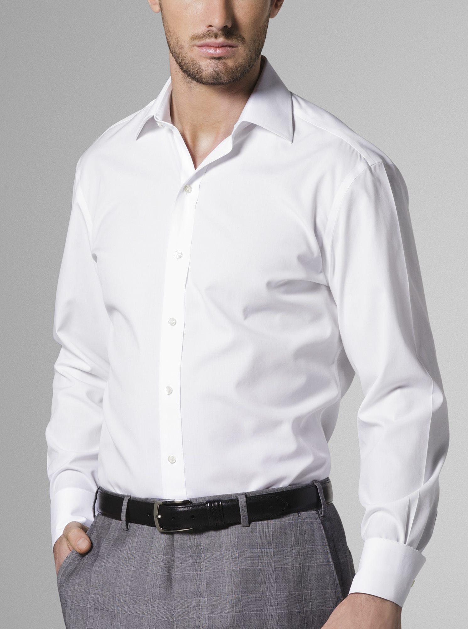 Wrinkle Free Dress Shirt White J Hilburn
